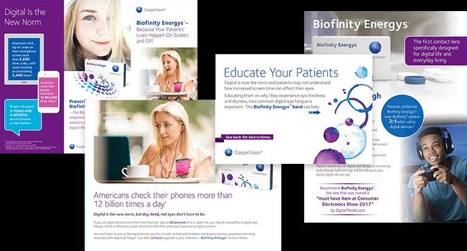 Biofinity Energys patient promotional materials