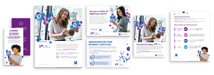 Biofinity Energys patient promotional materials